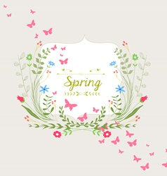 Hand Drawn Floral and butterfly Design vector image vector image