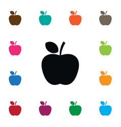 isolated delicious icon apple element can vector image vector image