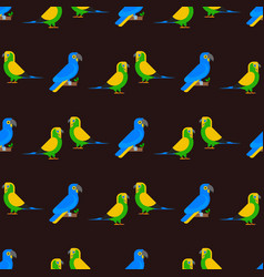 Parrots birds seamless pattern animal nature vector