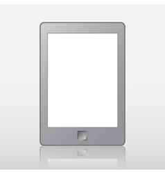 Portable e-book reader with clipping path for book vector