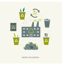 Recycling garbage and waste utilization concept vector