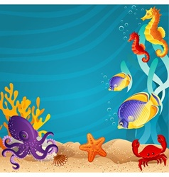 Sea bottom vector image vector image