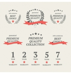 Set of vintage premium quality elements vector image
