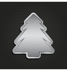 Silver christmas tree vector