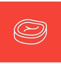 Steak line icon vector