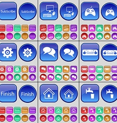 Subscribe pc gamepad gear chat approval finish vector