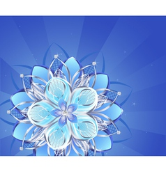 Abstract silver flower vector