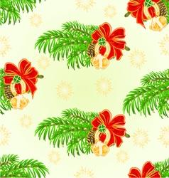 Seamless texture merry christmas lucky symbols vector