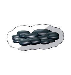 spa dark gray many volcanic rocks vector image