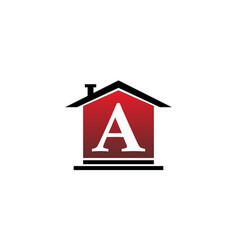 Real estate initial a vector