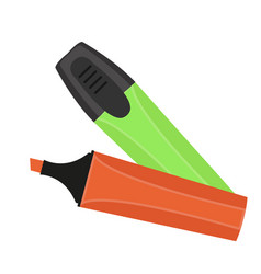 marker pen icon flat cartoon style isolated on vector image