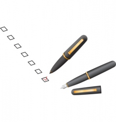 Check box pen vector