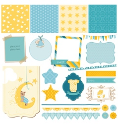 Scrapbook Baby Bear Set vector image