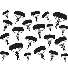 People with parachute vector