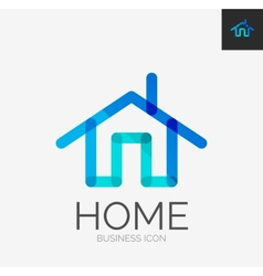 Minimal line design logo home icon vector