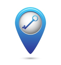 Map pointer with closed lock icon vector image