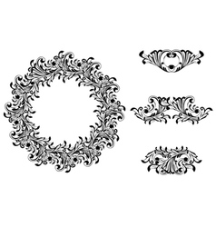 Victorian decorative element vector