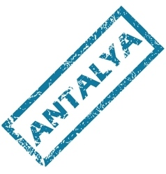 Antalya rubber stamp vector