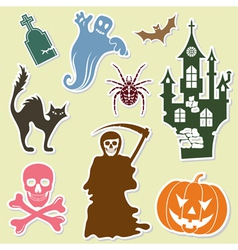 Big halloween collection vector