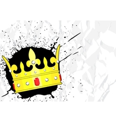 Crown with jewels vector