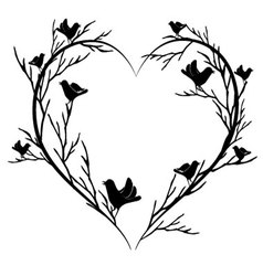 Heart of birds vector