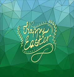 Card with happy easter lettering-5 vector