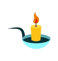 Candle icon flat vector