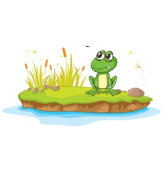 Annoyed Cartoon Frog vector image vector image