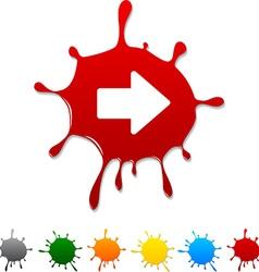 Arrow blot vector image