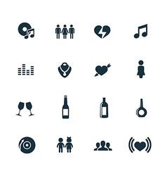bar icons set vector image vector image