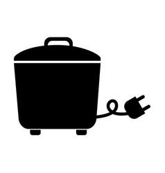 Black rice cooker graphic design vector