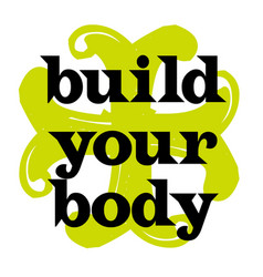 build your body vector image