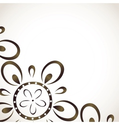 Card design with monochrome flower pattern vector image vector image