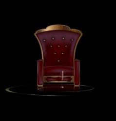 darkness and armchair vector image