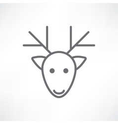 deer head on a white background vector image