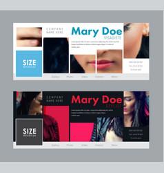 design a standard size banner for social networks vector image