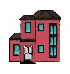 Drawing house urban expensive vector