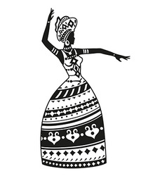 Ethnic dance african woman vector
