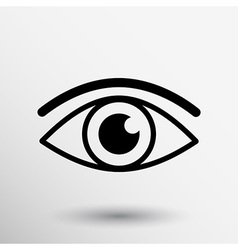 Eye icon vision symbol look graphic pictogram vector