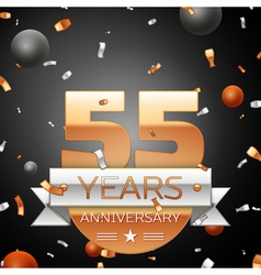 Fifty five years anniversary celebration vector
