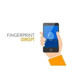 Finger Print Smart Phone Access Lock Business Man vector image vector image