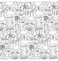 Hand drawn africa seamless pattern vector