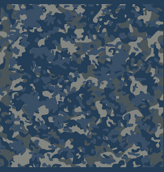navy flectarn camouflage seamless patterns vector image vector image