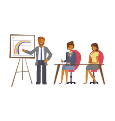 office teamwork concept vector image vector image