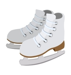 Pair of skates cartoon icon vector image vector image