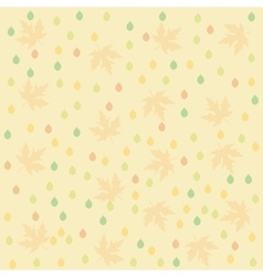 Seamless Autumn pattern background Set design vector image