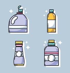 set laundry equipment to clean the clothes vector image