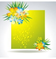 set of colorful flower in banner vector image vector image