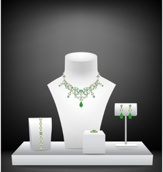 Set of jewelry on dummies vector image