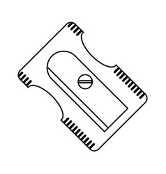 sharpener school utensil line vector image